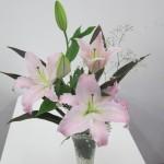 ◇今週のお花◇ 薄ピンクのゆり