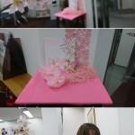 季節の飾り付け 春→桜→ピンク!
